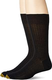 Gold Toe Men's Comfort Top Non-elastic English Rib Crew 2 Pack S8