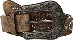 M&F Western - Cluster Studs with Copper Buckle Belt