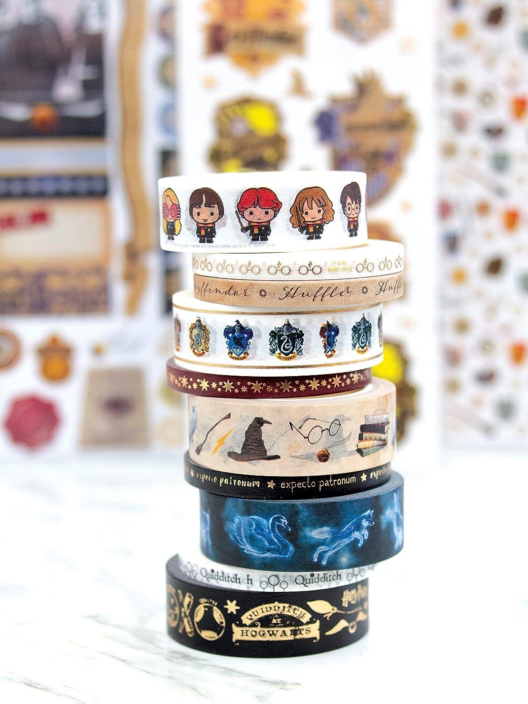 Paper House Productions SET-0013E Harry Potter Washi Bundle Includes 15 mm Five 5 mm Rolls Decorative Adhesive Tape