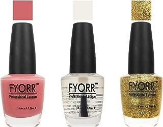 FYORR Rose N Glitter.Com Nail Polish - Set of 3 (15 Ml Each)
