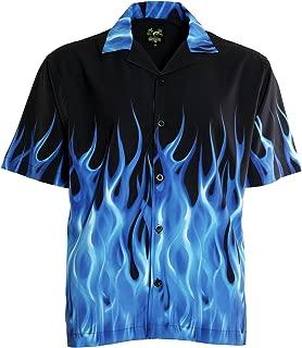 Blue Flames Bowling Shirt