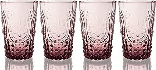 Fleur De Lys Colored Juice Glass 4-Piece Set, 14 Ounce (14 Ounce Purple)