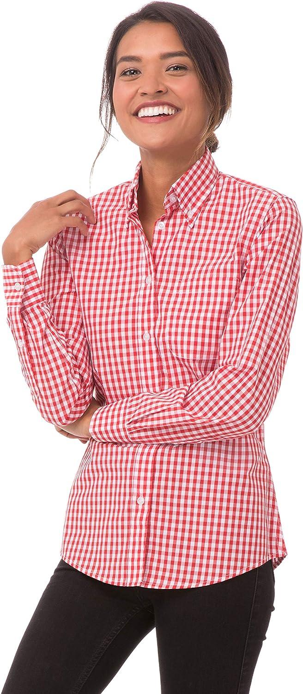 Chef Works Women's Gingham Dress Shirt