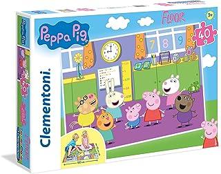 Clementoni Peppa Pig 25458 Vloerpuzzel, 40 delen, meerkleurig,