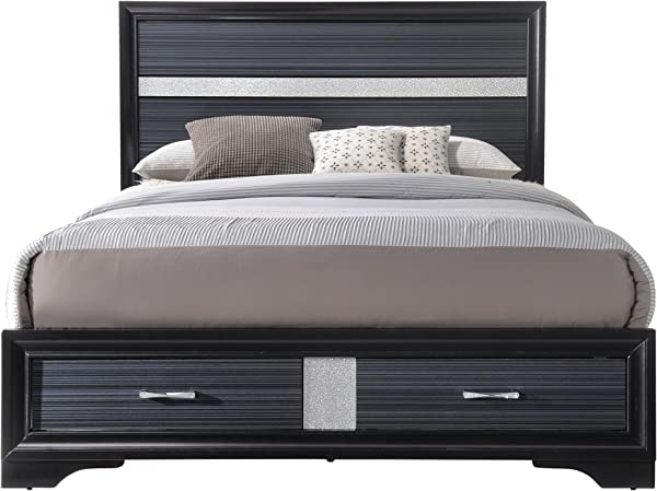 ACME Naima Black Queen Bed With Storage
