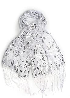Best white sequin scarf Reviews