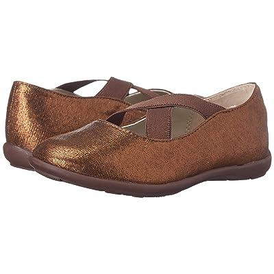 Jumping Jacks Kids Sophia Balleto (Toddler/Little Kid/Big Kid) (Copper Glitter/Dark Brown) Girls Shoes