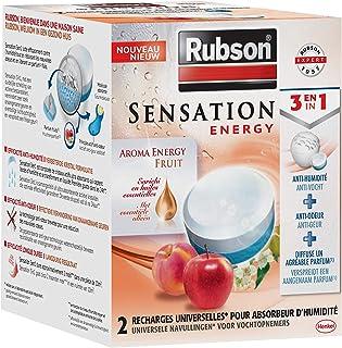 Rubson Sensation Energy, 2 Recharges universelles de 300 gr pour absorbeur..
