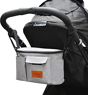 LXRYBABY - Baby Stroller Bag - Universal Fit For All Prams - Secure Clips With Built in Shoulder Strap - Deep Pockets For ...