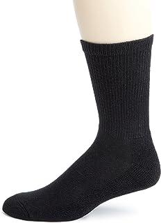 Champion Men's 6 pack Crew Socks, Black, 10-13, (Shoe size 6-12)