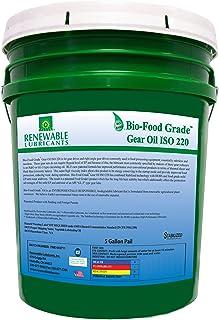 Renewable Lubricants Bio-Food Grade ISO 220 Gear Oil, 5 Gallon Pail