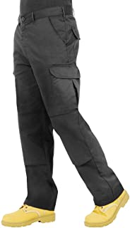 Endurance - Pantalones Tipo Cargo, de Combate, con Bolsillos para Rodillera y Costuras reforzadas. Disponibles en Negro, Azul Marino, Gris/Negro y Negro/Gris
