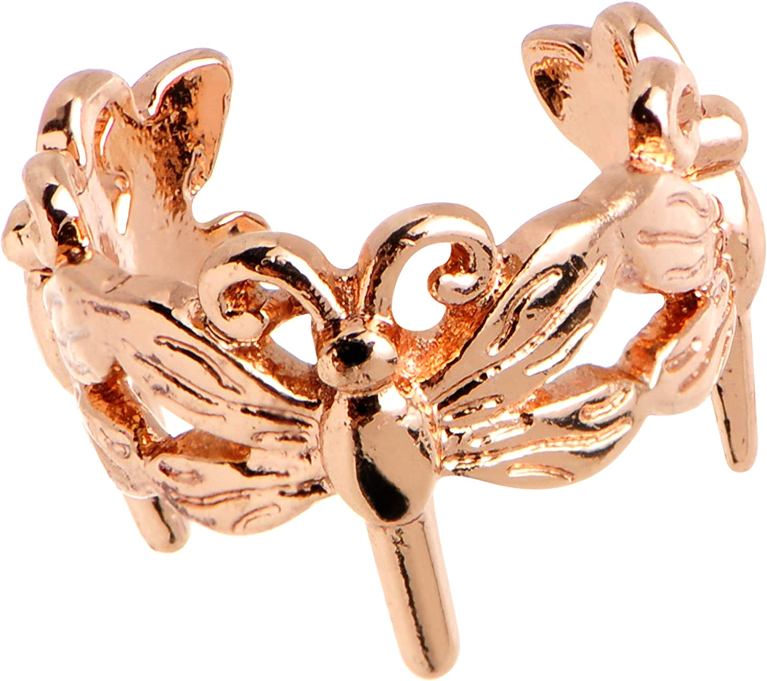 Body Candy Rosy Flights of Ear Dragonfly Super popular specialty store Cheap super special price Cuff Fancy Adjustable