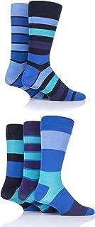 Mens 5 Pair SockShop Bamboo Socks (7-11, Bold Jewel)