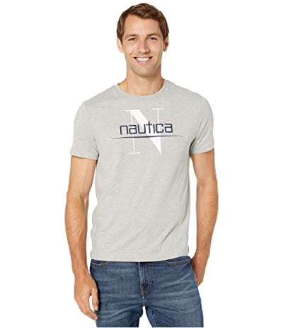 Nautica NSC 83 Flag T-Shirt (Grey Heather) Men