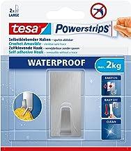 tesa Powerstrips Waterproof Hooks L metal rectangular