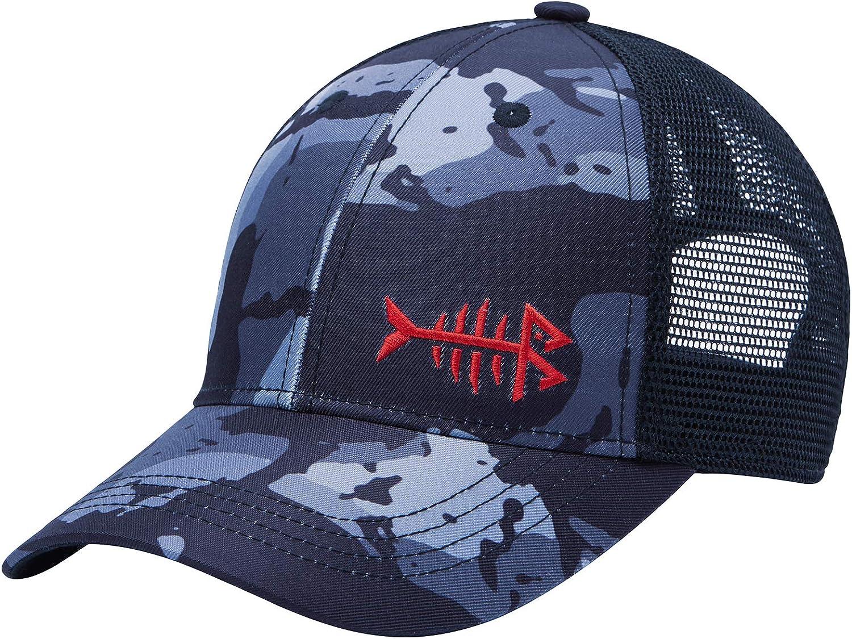 BASSDASH Altimate Fishing Hat Mesh Back for Men Women Adjustable Baseball Trucker Cap Black Camo at  Men's Clothing store