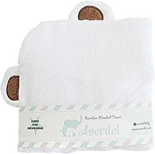 Bamboo Hooded Baby Towel-Newborns+Infant (Brown Ears White Towel)