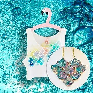 Sirène t-shirt + collier - Top mer - Shell plage nautique été - La petite sirène Ariel tendance mode féminine cadeau