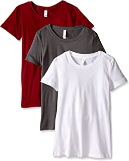 Clementine Apparel Women's Ideal Crew-Neck T-Shirts (Pack of 3)