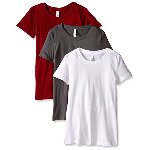 b42584dbe006 Clementine Apparel Women s 3-Pack Short Sleeve T Shirt Easy Tag V Neck Soft  Cotton