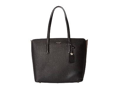 Kate Spade New York Margaux Large Tote (Black/Warm Taupe) Handbags