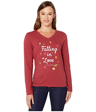 Life is Good Falling In Love Tee (Cranberry Red) Women