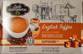 cafe continental english toffee cappuccino