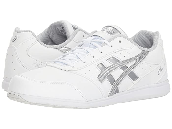 ASICS  Cheer 8 (White/Silver/Exchange) Womens Shoes