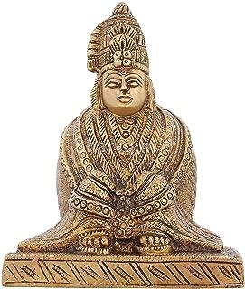 Sharvgun Religious Gifts Brass Statue Mansa Devi Hindu Temple Puja Mandir 5.5 inch,975 GR