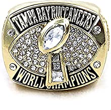 HASTTHOU Replica Championship Ring for 2002 Tampa Bay Buccaneers Gift Fashion Gorgeous Collectible Jewelry
