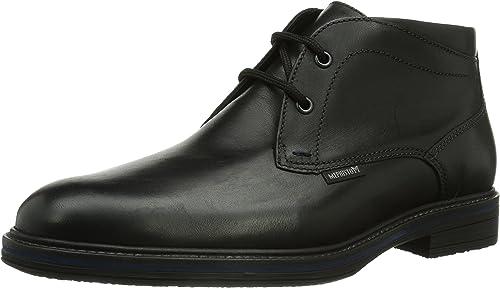Mephisto WALFrojo Grunge 1600 negro - botas de Cuero para Hombre
