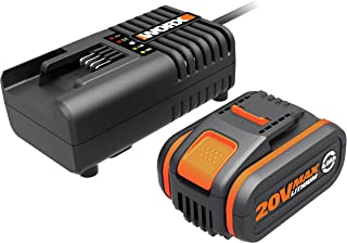 WORX 20V PowerShare 4.0Ah Battery and Fast Charger Kit Lithium-ion WA3604