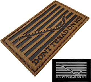 Coyote Brown Tan Infrared IR US First Navy Jack Dont Tread On Me DTOM Flag 3.5x2 Tactical Morale Touch Fastener Patch