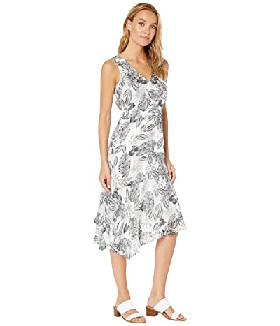 Sam Edelman Asymmetrical Hem Maxi Dress (Black/White) Women