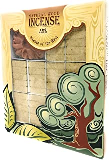Alder Wood Incense - 100 Bricks Plus Burner - Incienso De Santa Fe