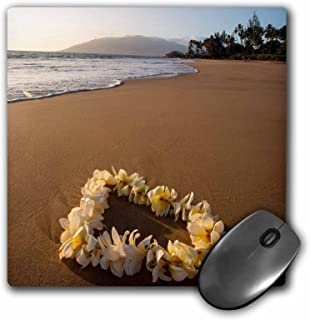 3dRose Mouse Pad USA, Hawaii, Maui, Lie on Kihei Beach with Reflections in Sand - 8 by 8-Inches (mp_259255_1)