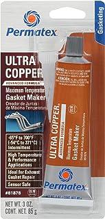 Best Permatex 81878 Ultra Copper Maximum Temperature RTV Silicone Gasket Maker, 3 oz. Tube Review