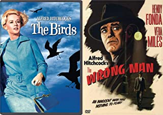 Classic Man Alfred Hitchcock Directs Mystery and Thriller 2-Movie Bundle - The Birds & The Wrong Man 2-DVD Collection