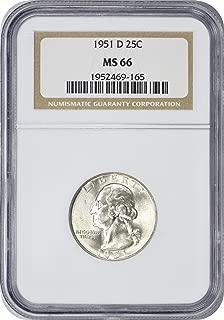 1951-D Washington Quarter, MS66, NGC