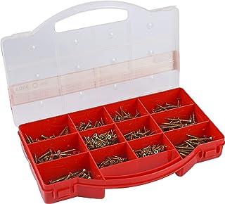 comprar comparacion Connex DP8500085 - Estuche con tornillos surtidos (cabeza de Torx, cabeza avellanada, 900 unidades, galvanizados)