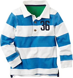 Carter's Baby Boys' Striped Rugby Shirt - Blue - 9 Months