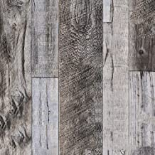ورق لاصق خشبي من هوم مي، ورق جدران ذاتي الالتصاق بتصميم اقشر والصق مقاس 45×600 سم مصنوع من PVC مضاد للماء ومقاوم للزيوت وق...