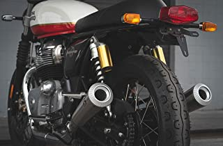 NUKE Little Boy CNC Exhaust Compatible for Royal Enfield Interceptor and Continental GT 650