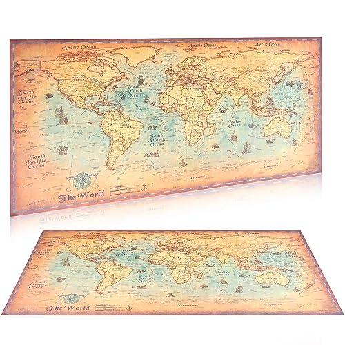 Vintage World Map Amazon Co Uk