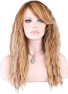 KeeWig キーウイッグ ファッション ウイッグ ロング カーリー Mix Medium & Dark Blonde ABLI 2216