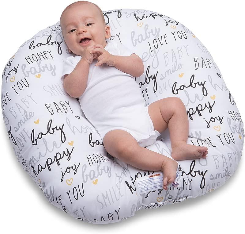 Boppy Original Newborn Lounger Hello Baby Black And Gold