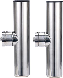 Amarine-made 2pcs Stainless Clamp on Fishing Rod Holder for Rails 7/8