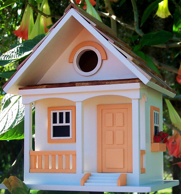 Peaches And Cream Cottage Style Novelty Bird House   Bird Feeder   Nest Box   Bird Table