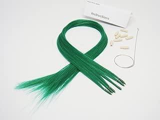 Beautiful Color Hair Extensions New Generation Dark Green